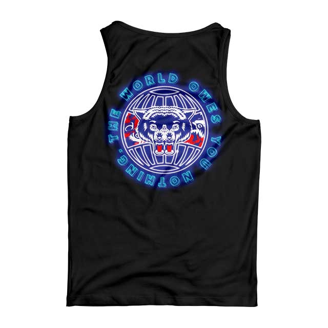 NEON WORLD TANK (BLACK) - Okamibrand