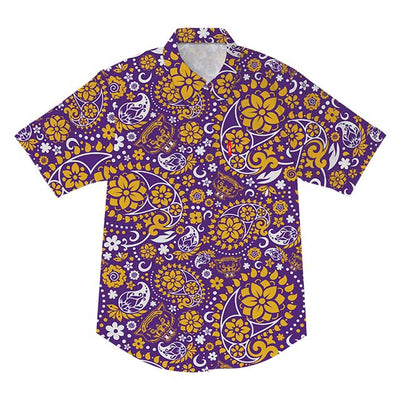 WLVS Paisley Short Sleeve B/U (Purple/Gold)