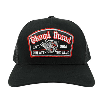 Run with the WLVS Trucker (Red/Black) - Okamibrand