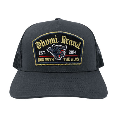 Run with the WLVS Trucker (Gold) - Okamibrand