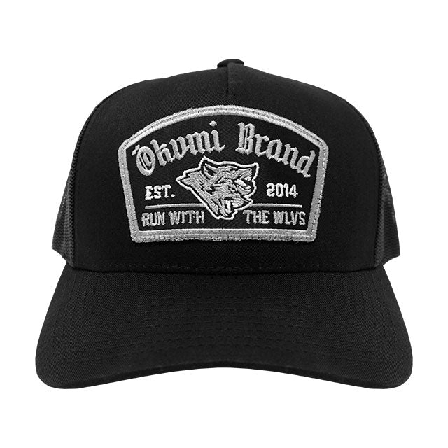 Run with the WLVS Trucker (Silver/Black) - Okamibrand