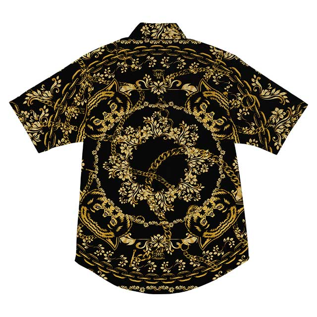 Chains Short Sleeve B/U (Black/Gold) - Okamibrand