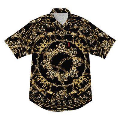 Chains Short Sleeve B/U (Black/Gold)