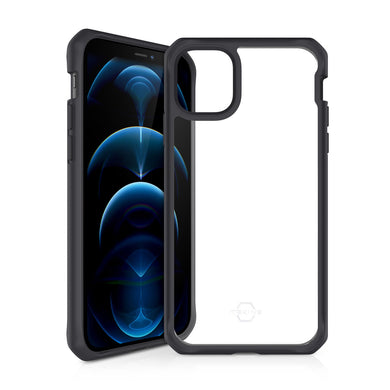 ITSKINS Hybrid Solid Black for iPhone 12/12 Pro Case