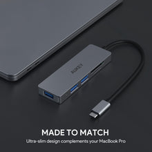 Aukey CB-C63 3 USB 3.1 Port with Card Reader Hub
