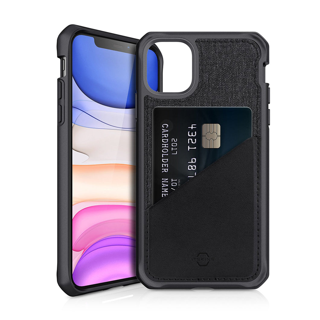ITSKINS Hybrid Fusion Black & Grey iPhone 11 Case