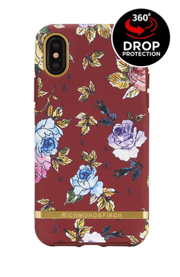 Richmond and Finch Red Floral iPhone X | Xs Case