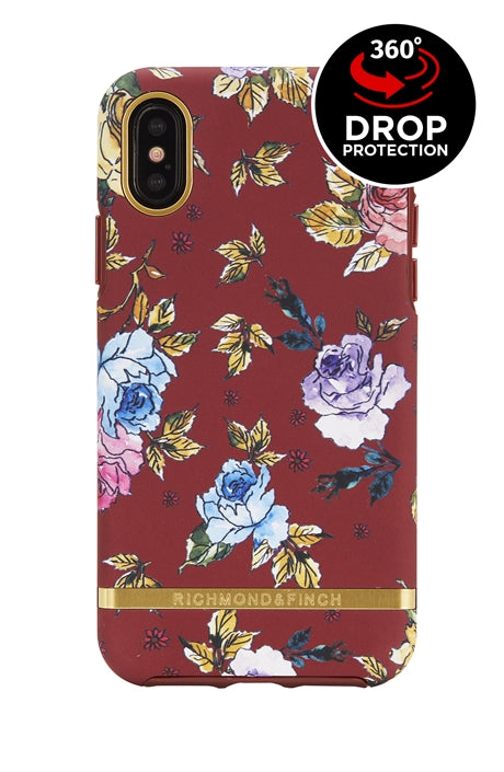 Richmond and Finch Red Floral iPhone Xs Max Case