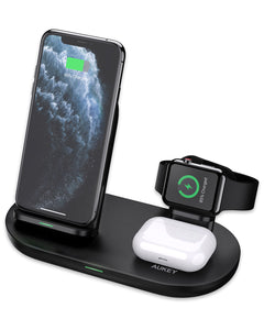 Aukey LC-A3 Aircore Series 3 in 1 Wireless Charging Station