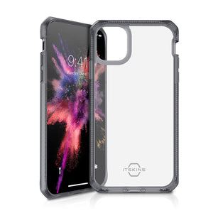 ITSKINS Hybrid Frost (MKII) Black & Transparent iPhone 11 Pro Max Case
