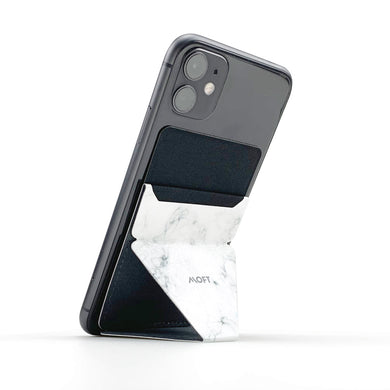 MOFT X Phone Stand with Cardholder - Marble White
