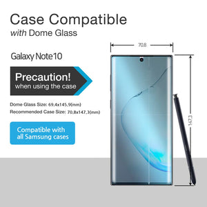 Whitestone Dome Glass Galaxy Note 10+ (Without UV Light)