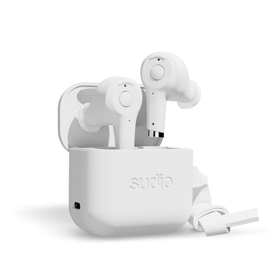 Sudio ETT True Wireless Bluetooth Earbuds- White