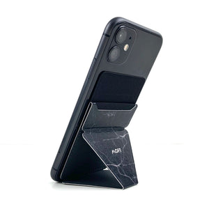 MOFT X Phone Stand with Cardholder - Marble Black