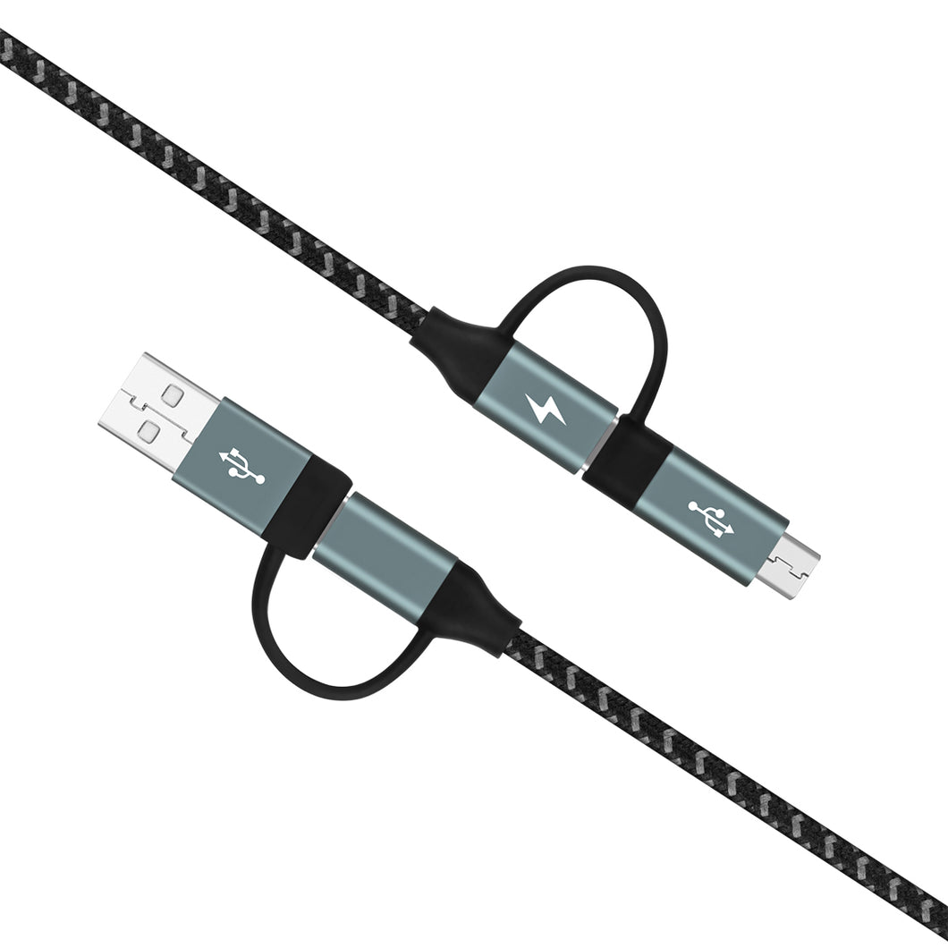 Momax One Link 4 in 1 Type-C PD Cable (1.2M) - Space Grey