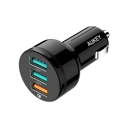 Aukey CC-T11 Expedition Trio QC 42W 3-Port Quick Charge 3.0 Car Charger