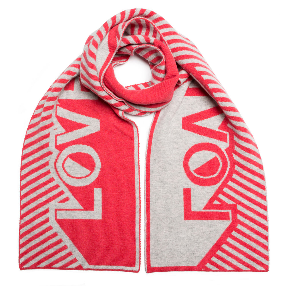 Love Blanket Scarf - Coral Silver - ami boutique