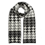 Houndstooth Scarf - Black White - ami boutique