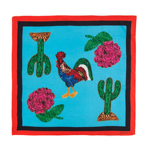 Rooster Print Bandana