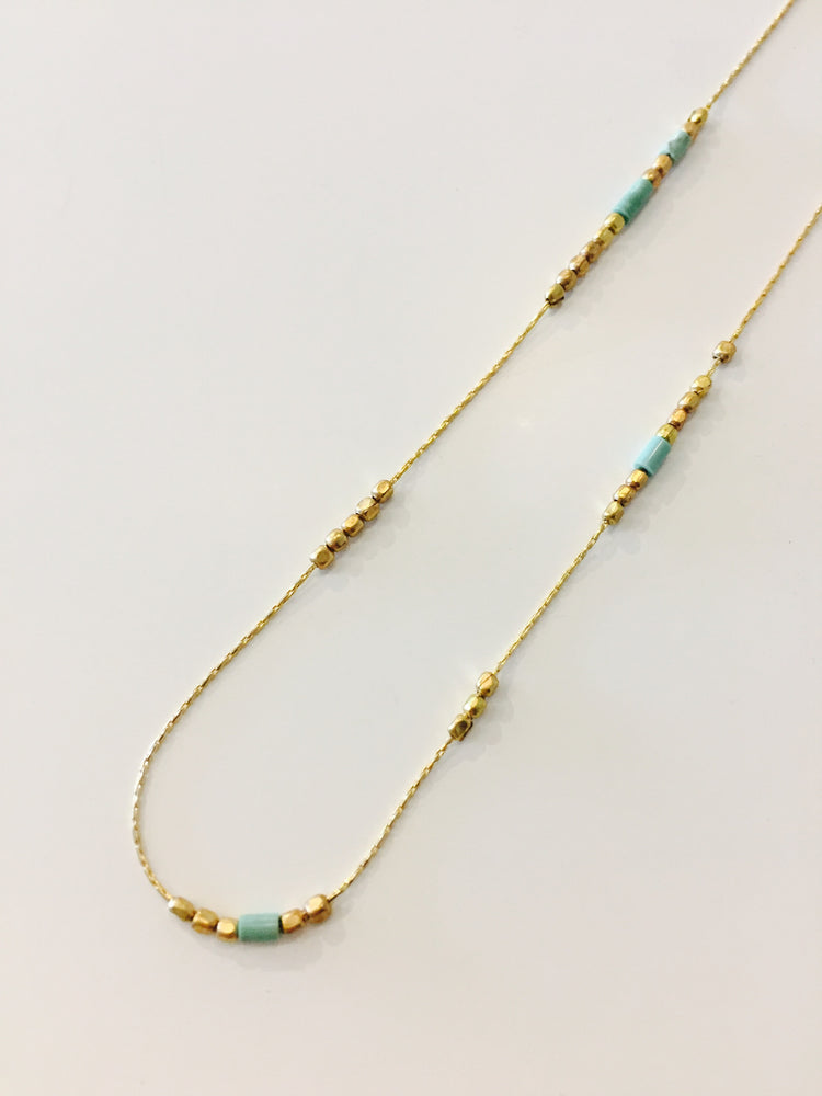 Norah Necklace - Turq Beads