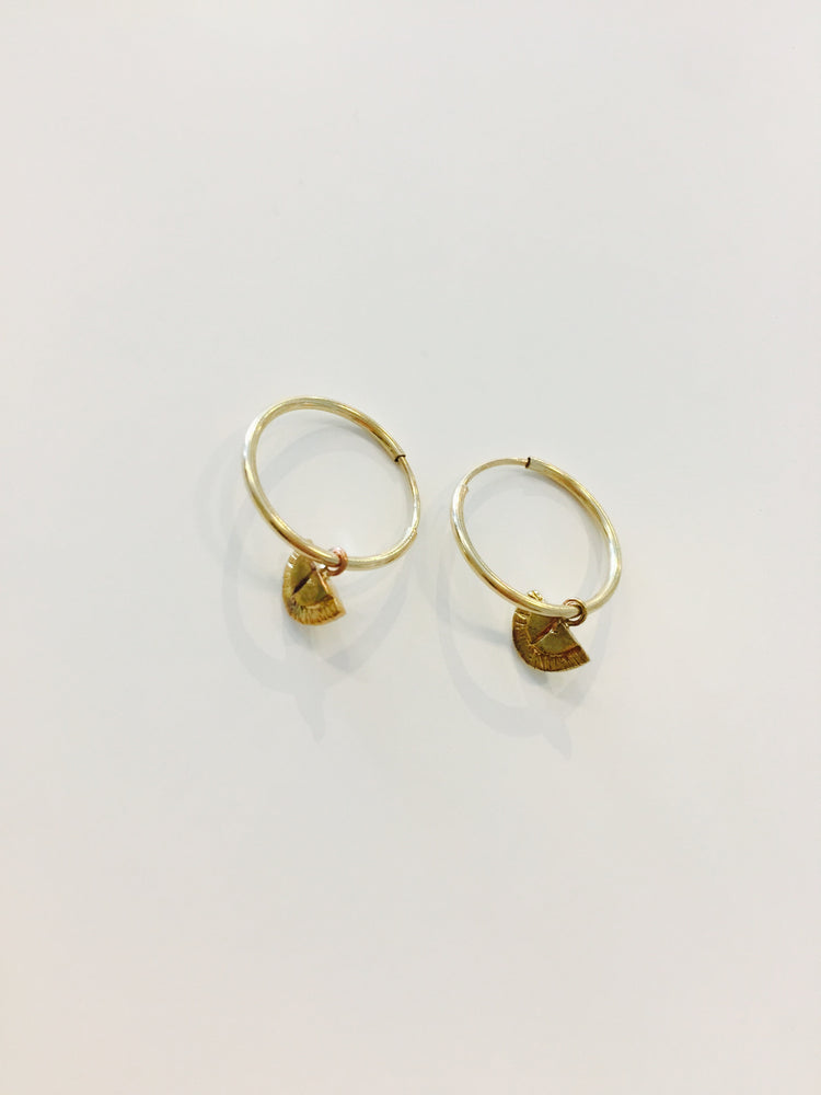 Tiny Hoops - Gold