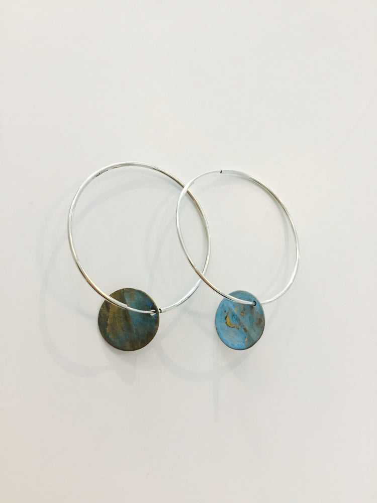 Isabella Earrings - Patina