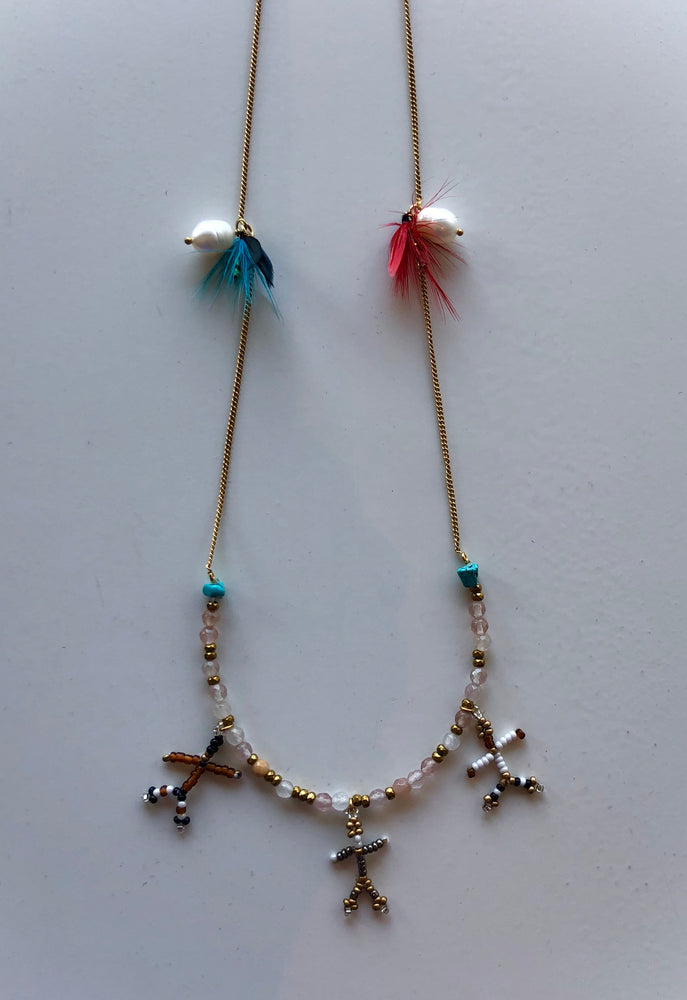 Feather Beads Necklace - ami boutique