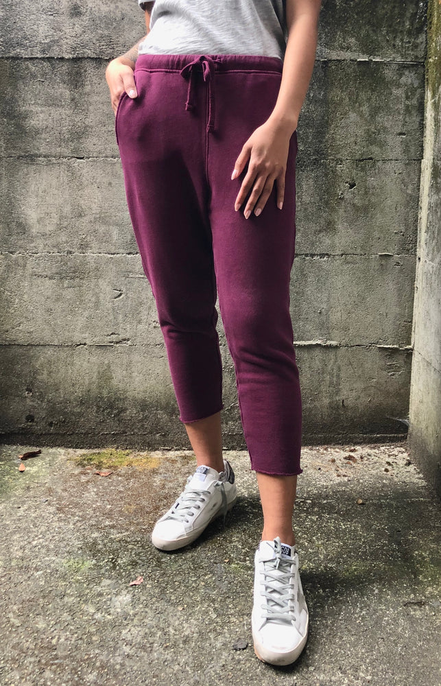 Crop Sweat - Plum