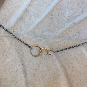 Hammered Ring Necklace - ami boutique