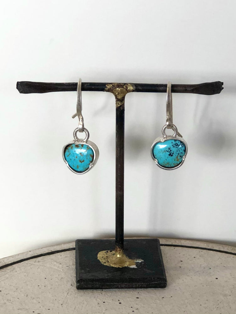American Turquoise Pinch Earrings