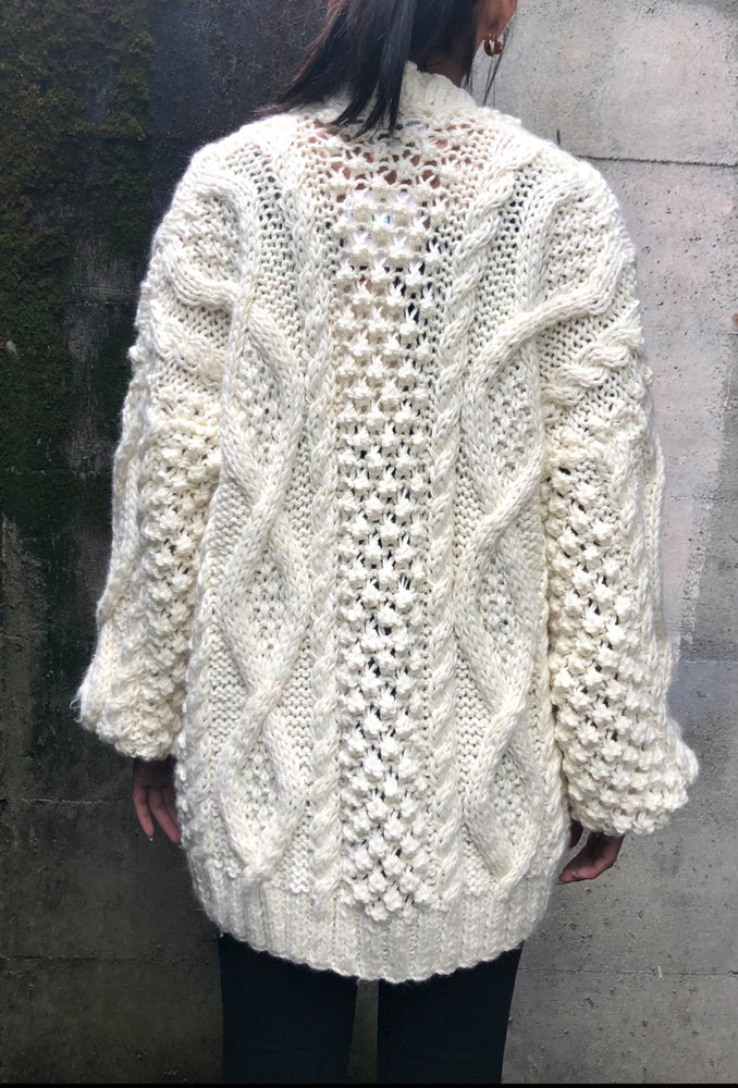 Cable Cardi - Off White - ami boutique