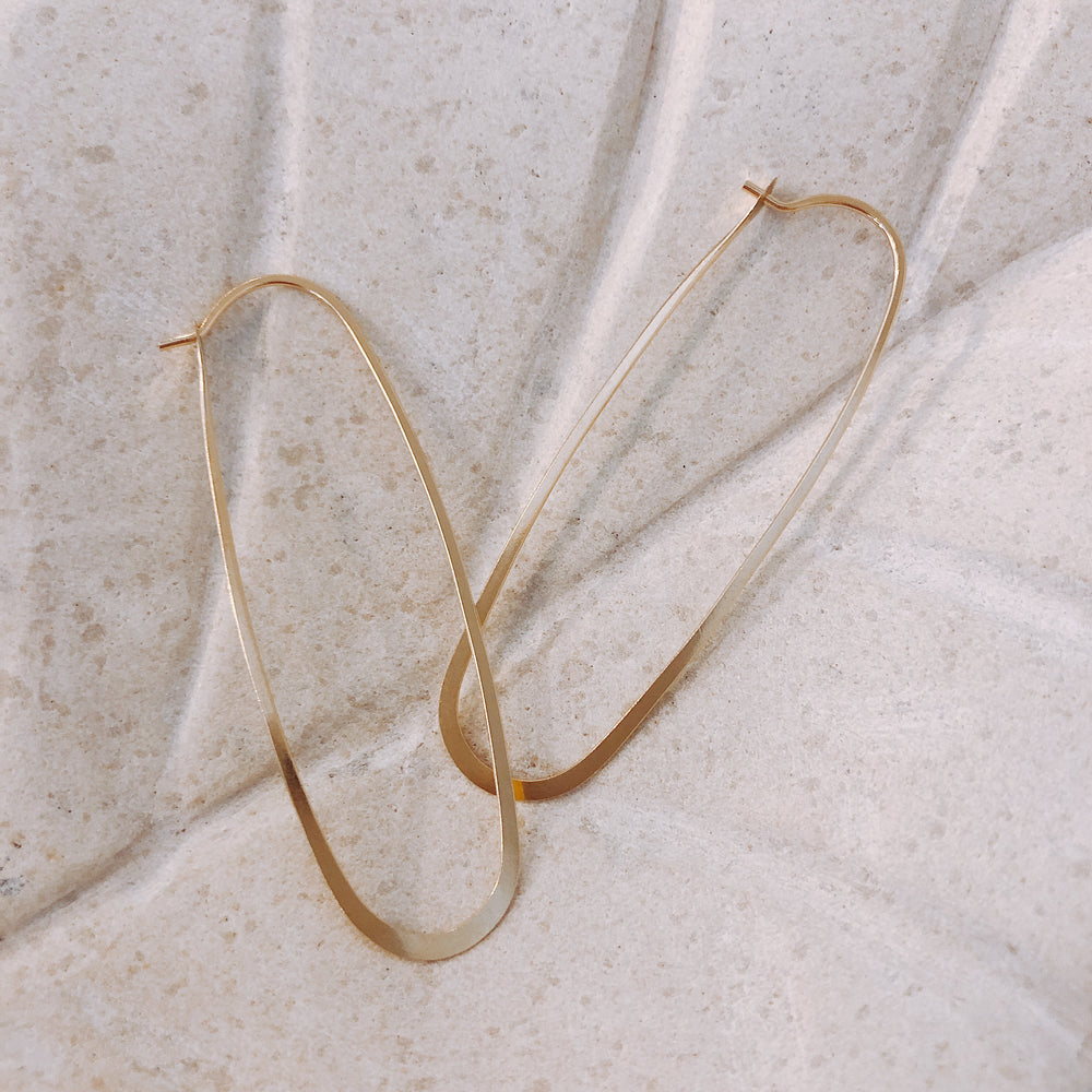 Gold Elliptical Hoop