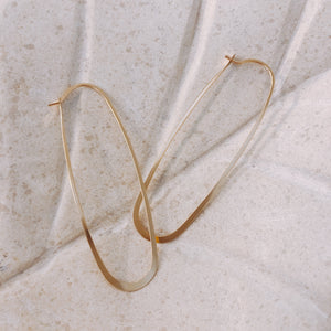 Gold Elliptical Hoop - ami boutique