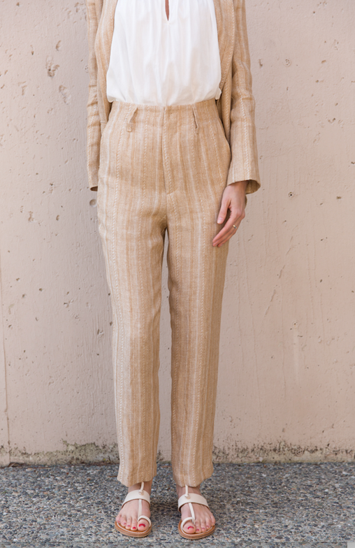 Herringbone Pants - Ambra