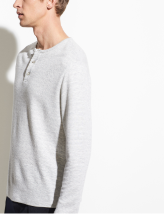 Heather Grey Henley - ami boutique