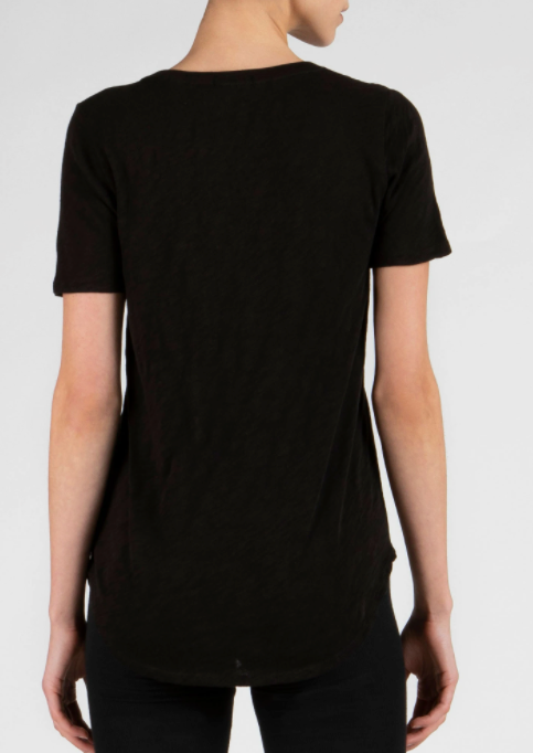 SS V Neck - Black - ami boutique