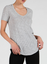 SS V Neck - HGrey - ami boutique