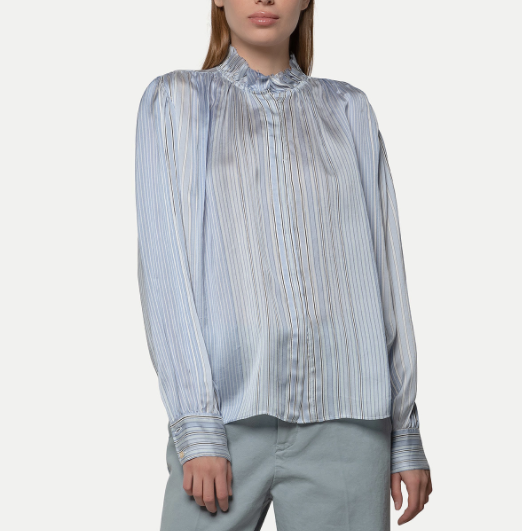 Fluid Stripe Blouse