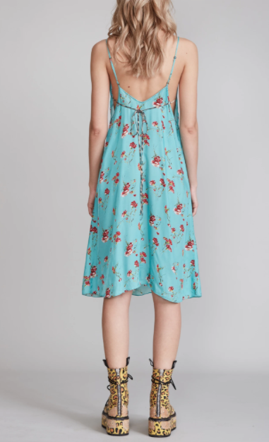 Midi Slip Dress - Blue Floral - ami boutique