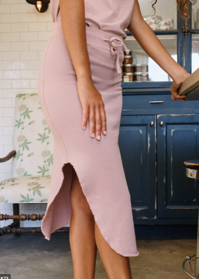 Fleece Skirt - Blush