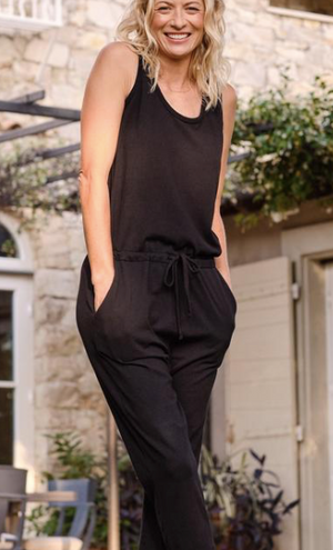 Tank Jumpsuit - BLK - ami boutique