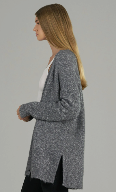 Grey Marbled Cardigan - ami boutique