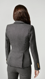 One Button Blazer - Black Grid - ami boutique