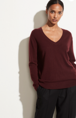 Weekend V Neck - Blk Plum