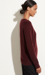 Weekend V Neck - Blk Plum - ami boutique