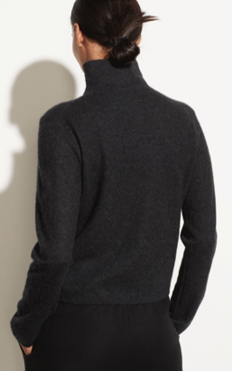 Fitted Turtleneck - Charcoal - ami boutique