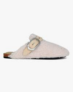 Ansley Slide - Cream Shearling