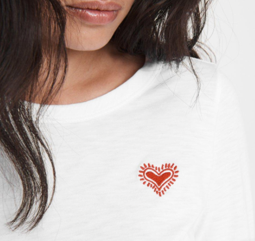 Embroidered Heart Tee - ami boutique