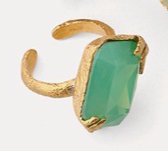 Iridescent Rings - Mint - ami boutique