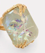 Iridescent Rings - Opal